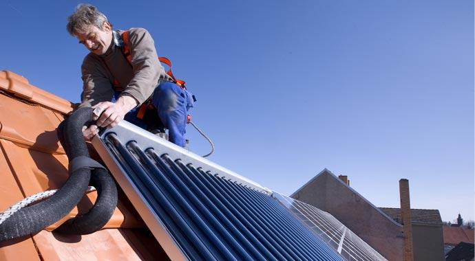 Installation einer Solarthermieanlage