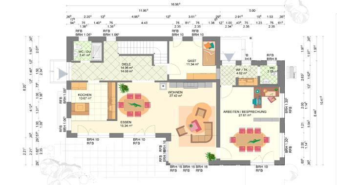 kampa haus linz sonderplanung musterhaus werder. Black Bedroom Furniture Sets. Home Design Ideas