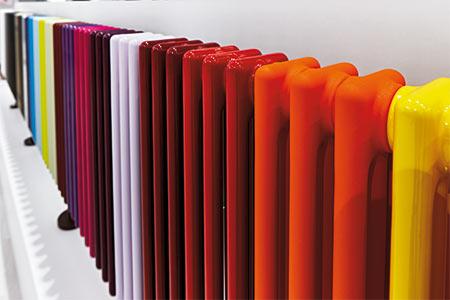 Farbpalette Design-Heizkörper von Zehnder