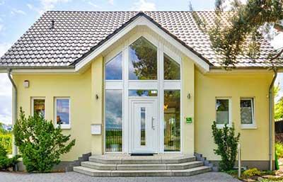 Helma Eigenheimbau Musterhaus in Falkensee Außenansicht