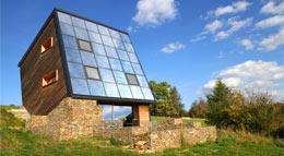 Außenansicht ENERGETIKhaus100 cube von Fasa