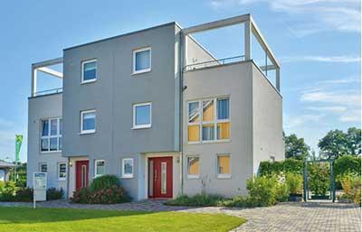 Helma Eigenheimbau Musterhaus Düsseldorf Außenansicht
