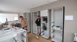 Aufbau der Leicht Küche: Mit einer solchen Ausstattung gelingen künftig spielend auch die schwierigsten Gerichte.