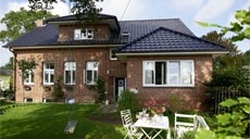 Backsteinhaus in Halstenbek Außenansicht