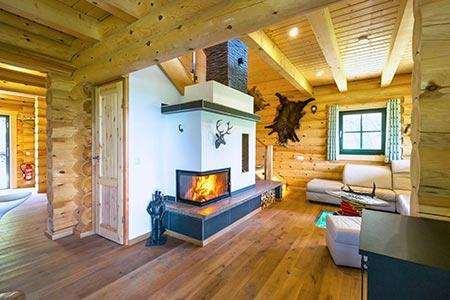 Wohnbereich Blockhaus Waldschlösschen von LéonWood