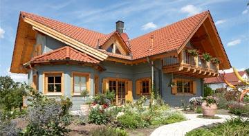 Außenansicht Blockhaus Burgstall von Rems-Murr-Holzhaus
