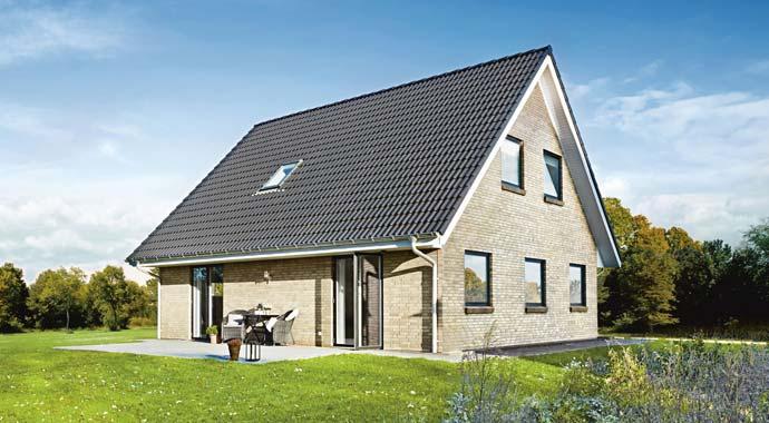 Außenansicht Alles-inklusive-Massivhaus der HausCompagnie