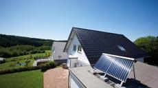 Solarthermieanlage Vaillant AuroTHERM.