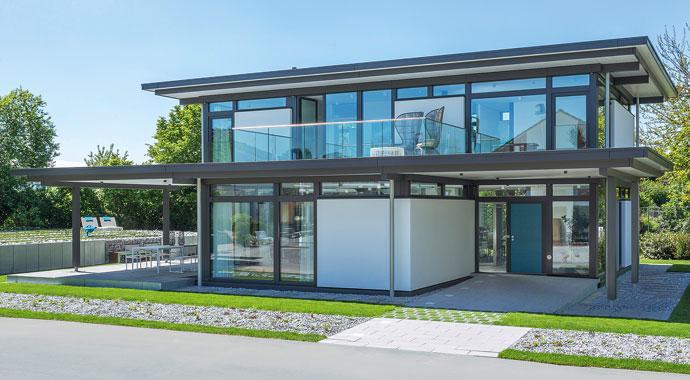 Moderner Fachwerkbau von Huf Haus
