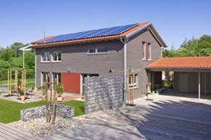 Baufritz Plusenergiehaus Hennig Außenansicht