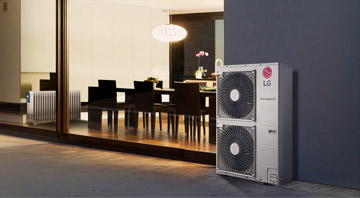 LG Luft-Wasser-Wärmepumpe THERMA V