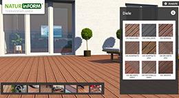 Screenshot Terrassenplaner von NATURinFORM