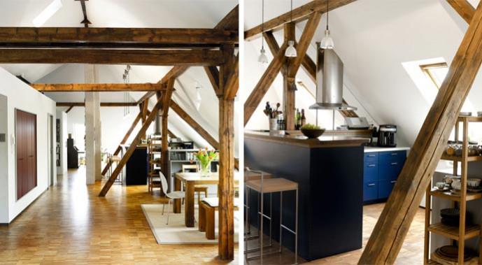 Umbau eines Wohn-Ateliers mit Velux Dachfenstern