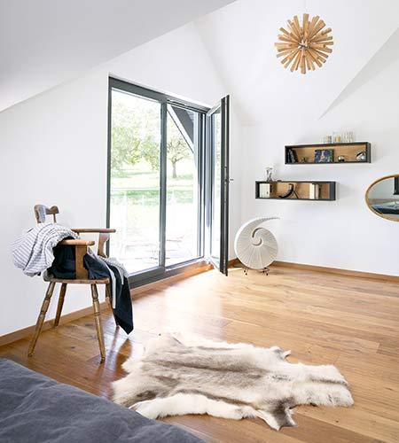 Schlafzimmer Kundenhaus Elfenberger von SchwörerHaus
