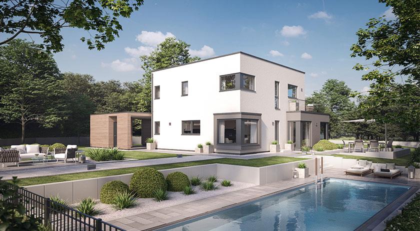 Schwabenhaus Solitaire-E-145 Entwurf 9 Außenansicht