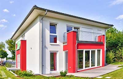 Helma Eigenheimbau Musterhaus Strasbourg Außenansicht