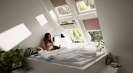 Sonnenschutz für Dachfenster von Velux