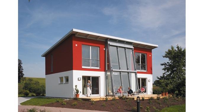 hanse haus musterhaus vita 147. Black Bedroom Furniture Sets. Home Design Ideas