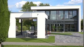 Musterhaus FUSION: Bauhaus trifft Fachwerk