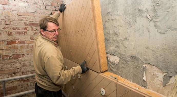 Innendämmung mit Holzfaserdämmmatte von Unger-Diffutherm