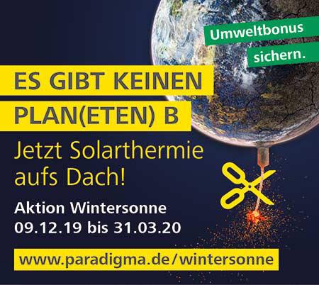 Aktion Wintersonne von Paradigma