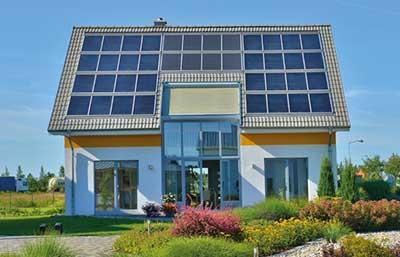 Helma Musterhaus Leipzig als Sonnenhaus Außenansicht