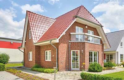 Helma Eigenheimbau Musterhaus in Kamen Außenansicht