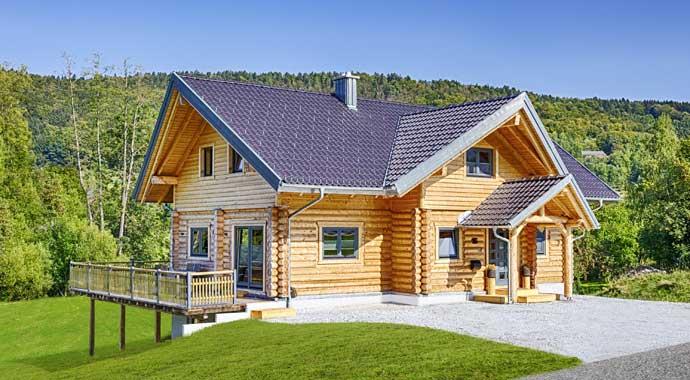 Außenansicht Blockhaus Kodiak Country von LéonWood