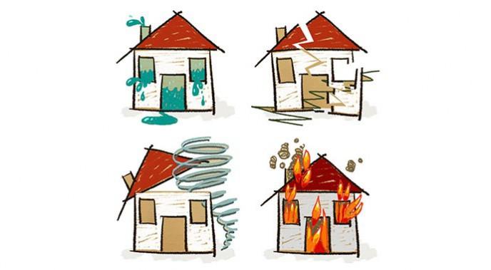 Während des Hausbaues kann viel passieren, verschiedene Versicherungen sind deshalb unverzichtbar.
