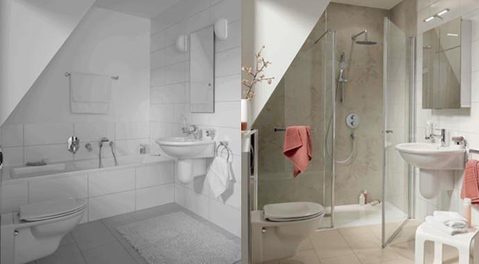 """""""RenoDeco"""" verwandelt jedes in die Jahre gekommene Bad in eine Wohlfühloase."""