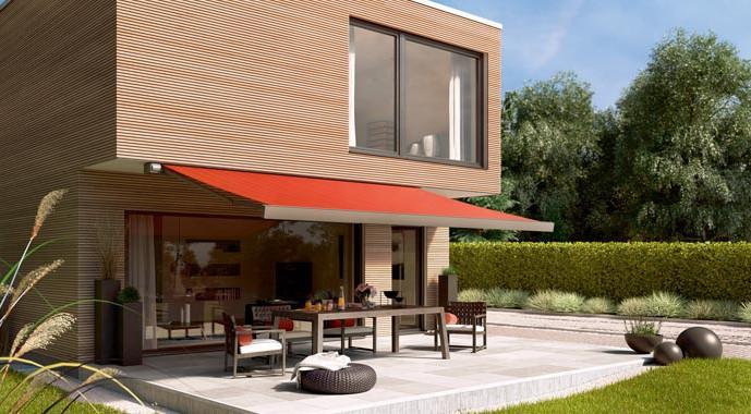 markise markilux 970 f r terrasse und balkon hurra wir bauen. Black Bedroom Furniture Sets. Home Design Ideas