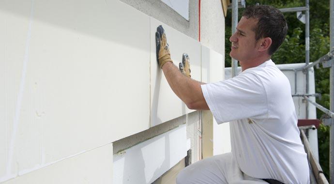 Fassadendämmung mit Polyurethan