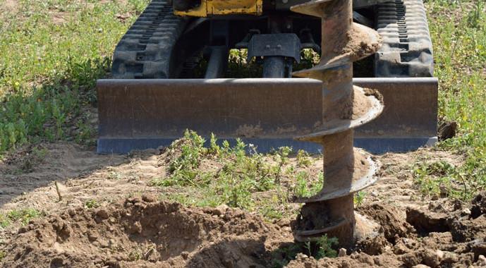 Probebohrung für ein Bodengutachten
