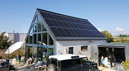 Eigenheim mit Photovoltaik-Anlage