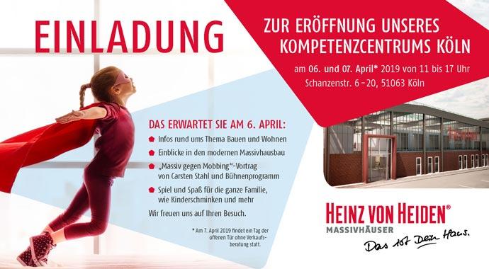 Einladung zur Eröffnung des Heinz von Heiden KompetenzCentrums in Köln