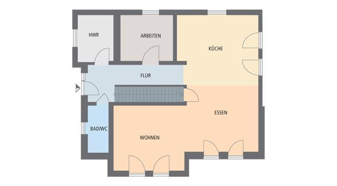 Gussek Haus Fertighaus Madeleine Grundriss Erdgeschoss