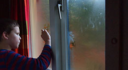 Nasse Fenster im Winter
