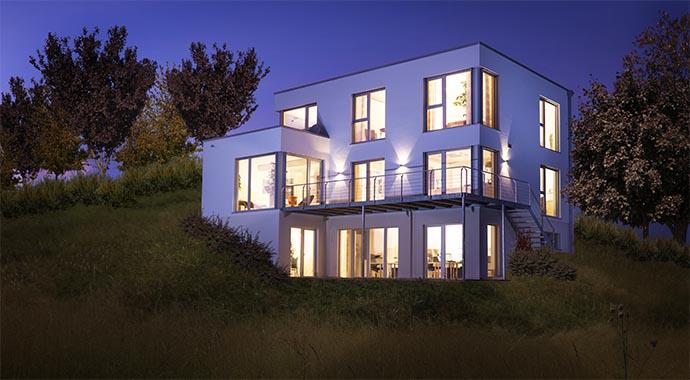 die hausmanufaktur musterhaus allg u. Black Bedroom Furniture Sets. Home Design Ideas