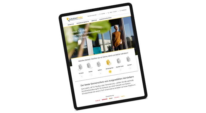 Screenshot Schattefinder.de