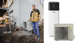 Luft-Wasser-Wärmepumpe HPSU compact Ultra von Rotex