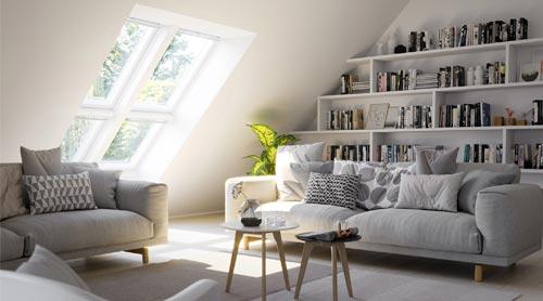 Mit Velux lassen sich Dachfenster einfach modernisieren.