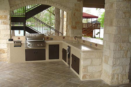 Terrasse mit Küche