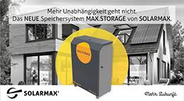 Speichersystem MAX.STORAGE von SOLARMAX