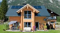 Fullwood Wohnblockhaus Massivholzhaus Tiroler Schatzkästchen