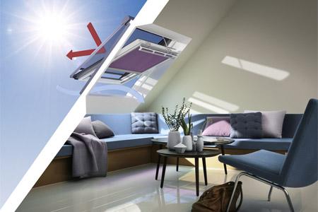 Dachfenster mit Hitzeschutz von Velux