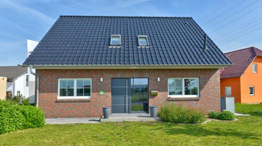 Helma Eigenheimbau Musterhaus bei Leipzig Außenansicht