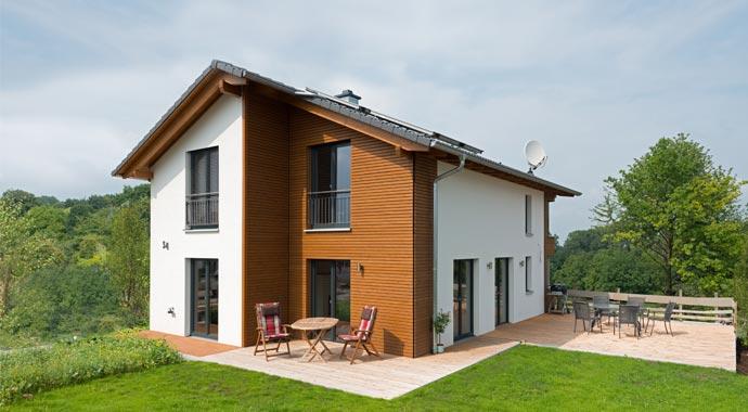 Außenansicht Holzhaus Natur 144 von Frammelsberger