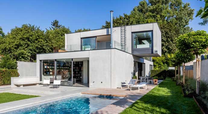 Einfamilienhaus in München aus Betonfertigteilen
