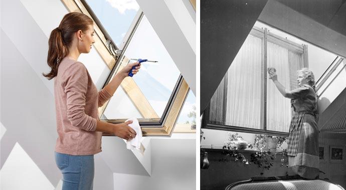 Mit der richtigen Technik Dachfenster putzen
