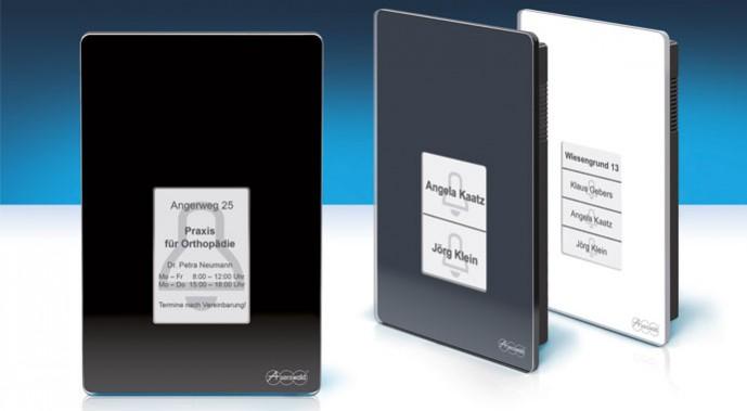 Türsprechsystem TSF-Dialog 400 in anthrazit, schwarz und weiß